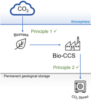 Biomass and carbon capture and storage graphic